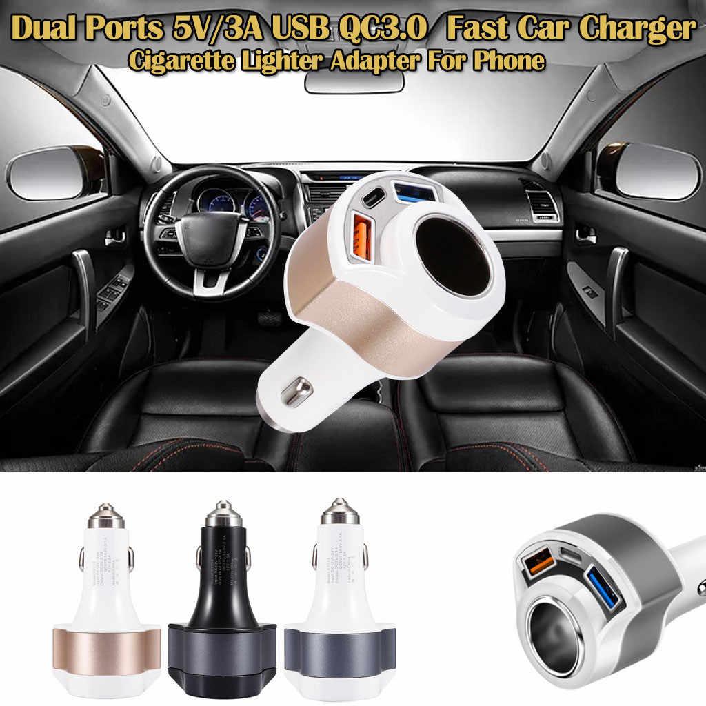 Carprie carregador de carro duplo usb 2 portas display lcd 12-24 v cigarro soquete isqueiro rápido carregador de carro adaptador de energia carro jly12