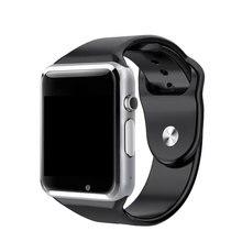 2016 новое поступление A1 Смарт часы синхронизации Notifier Поддержка sim-карта TF Подключение apple iphone телефона Android SmartWatch