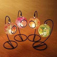 New Design Hanging Mosaic Candle Holders Candle Lantern For Weddings Candlesticks Mousse Party Christmas Home Decoration