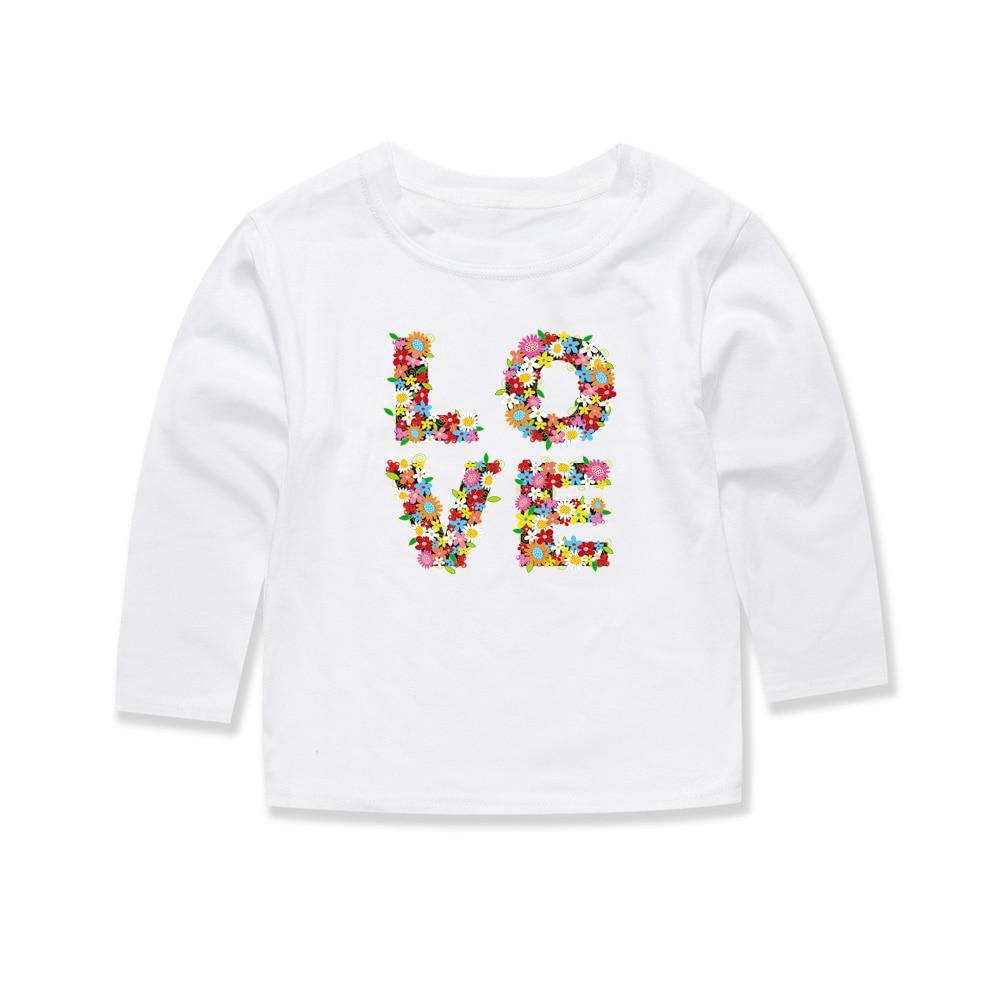 12 Farben Baby Mädchen Blume Tops Kinder Floral T Shirts Für 1-14 Jahre Infant Kleinkind Kleidung Herbst Lange Hülse Kaufe Eins, Bekomme Eins Gratis
