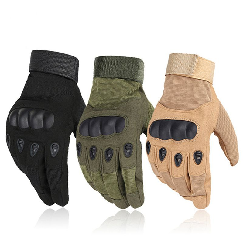 Outdoor Sports Tactical Gloves Climbing Camping Cycling Gloves Men's Full Gloves Military Armor Painball Protection Gloves