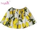 Princess Skirt 2017 Brand Lemon Print Cotton Kids Skirt Toddler Girls Summer Party Skirt