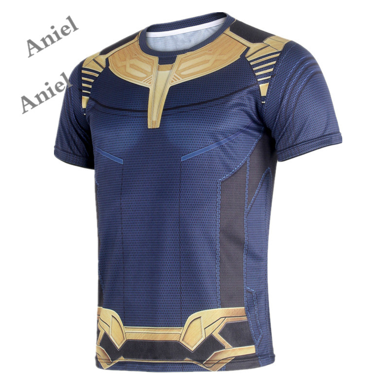 Ainiel Avengers 3 Thanos  3D Printed T shirts Vest Top Men Infinity War Cosplay Costume Tee  Summer  T-Shirts