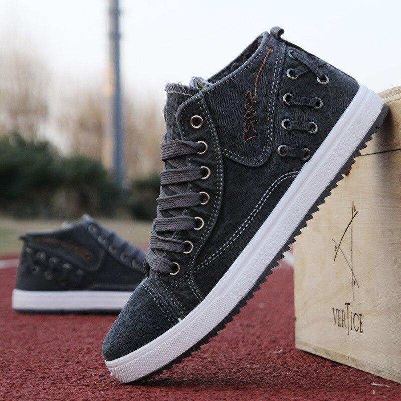 Printemps toile chaussures hommes chaussures coréen hommes chaussures décontractées tendance Denim chaussures