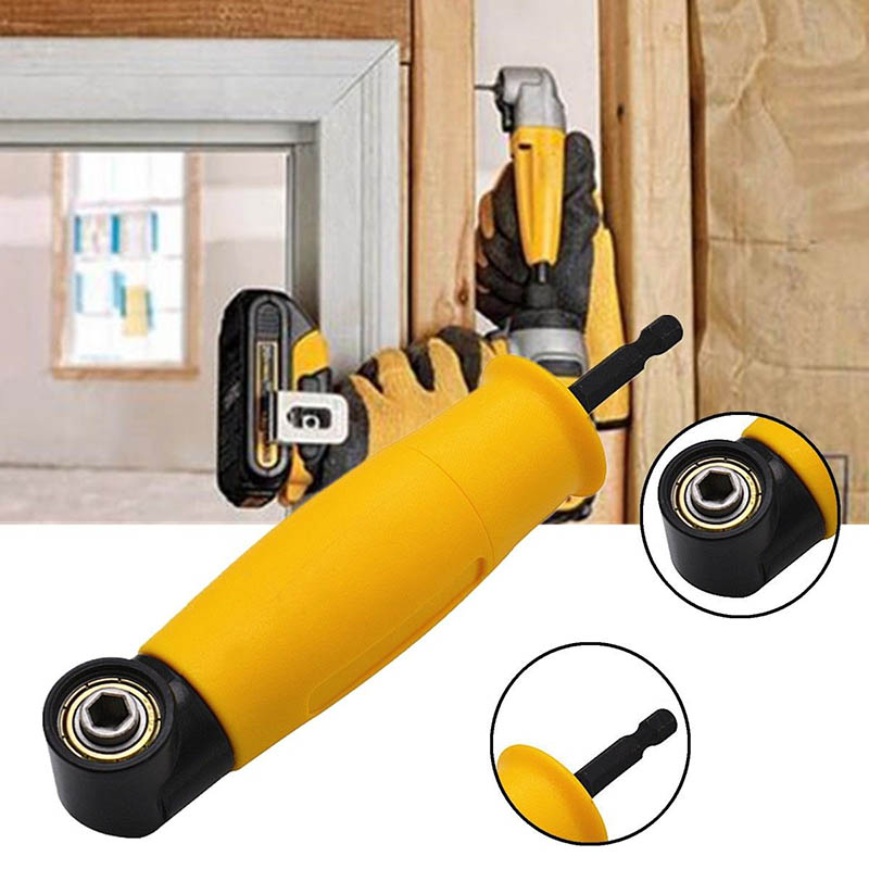 Right Angle Drill Attachment 90 Degree Electric Power Cordless Chuck Adapter CLH@8 new right angle extension adapter 90 degree electric drill attachment 9 5mm round shank with handle