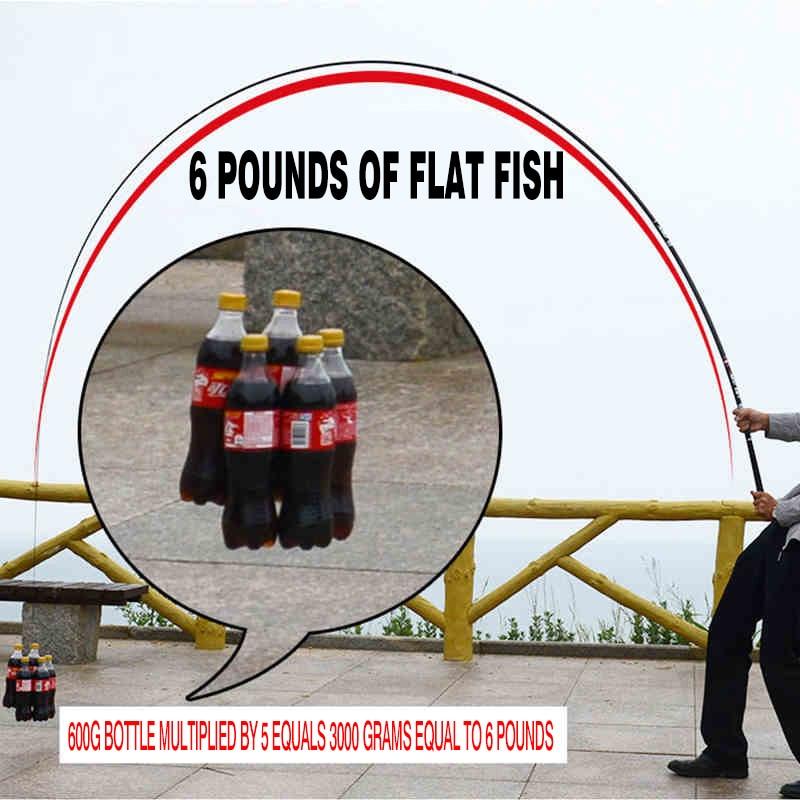 Ultralight superhard carbon Taiwan fishing rod 4.5 m 5.4 m pole fishing rod hand pole fishing gear Giants