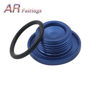 Image 3 - Aluminum For Yamaha YFM700 YFM 700 Top Crankcase Oil Filler Plug & O Ring Raptor Quad Blue Black Silver Red