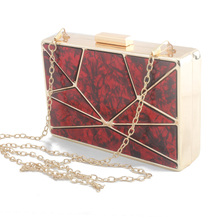 цена на New Fashion Marble Striped Clutch Bag Female Acrylic Evening Party Shoulder Bag Box Wallet Luxury Handbags Women Bags