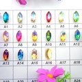 AB colors Gold claw settings 8 sizes horse eye Navette Marquise glass Crystal Sew on rhinestone beads garment accessories diy