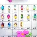 Colores AB oro ajustes garra 8 tamaños Marquise del ojo del caballo de cristal cose en los granos del rhinestone accesorios de la ropa DIY