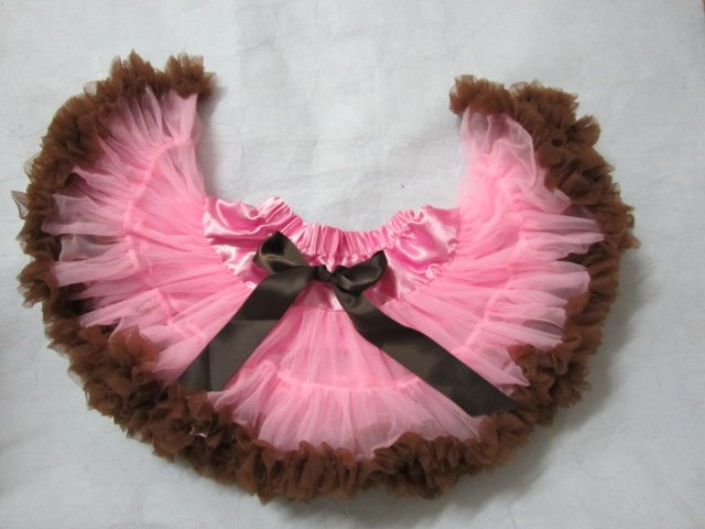 Free Shipping Pink With Coffee  Skirt