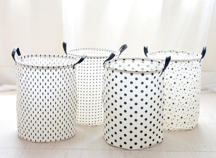 Laundry Basket 35*45 CM Sundries Storage Container Folding Storage Basket Toys Home Clothes Storage Bag Clothes Organizer 9