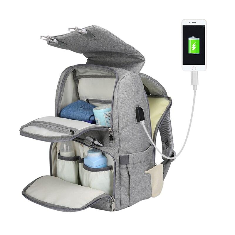 Sac à couches USB sac à dos de soin de bébé pour maman maman maternité sac humide imperméable bébé sac enceinte sac à langer bébé