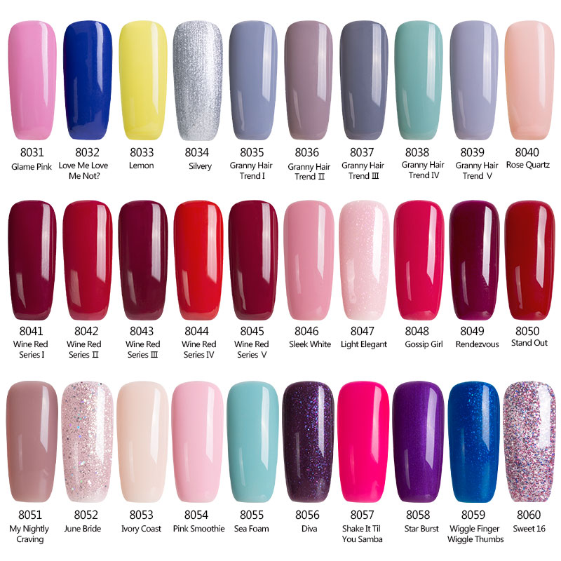 Modelones Newest Color Nail Gel Polish 7ML Nude Pink Color UV Gel ...