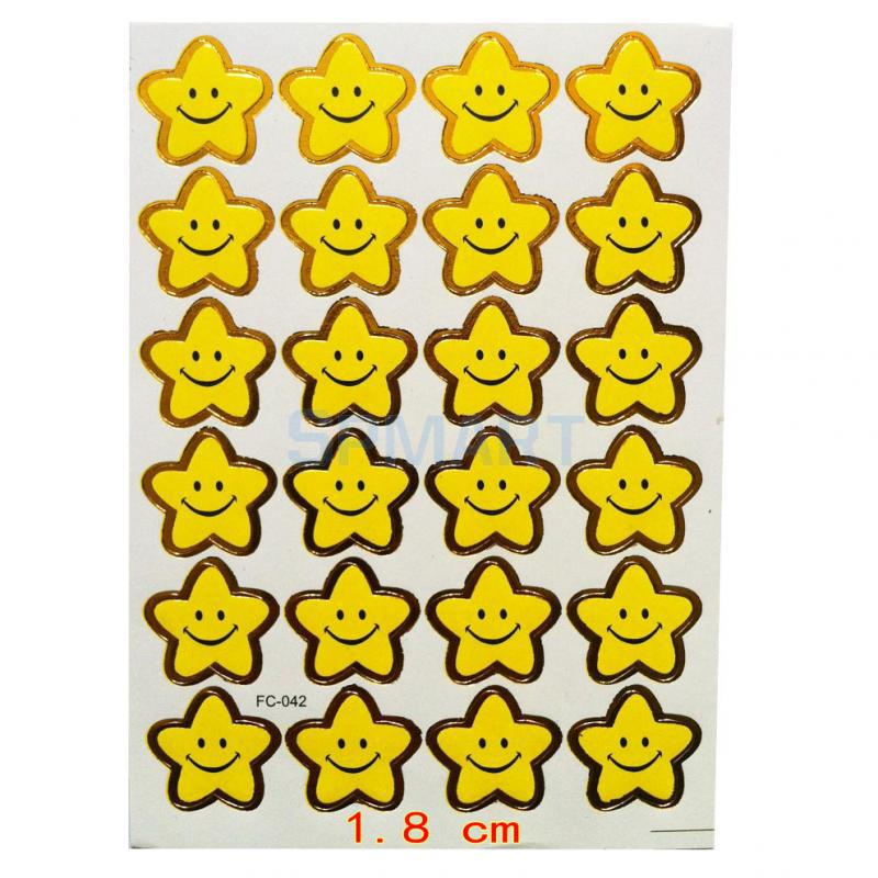 240 emoji smile star sticker school kids teacher label