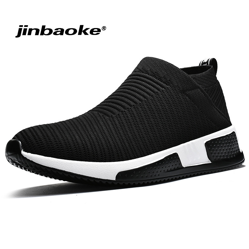 Three dimensional Mesh Slip On Running Shoes for Men Breathable Sports Sneakers Outdoor Comfortable Walking Jogging Sneaker