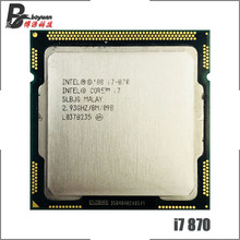 Intel Core i7 870 i7 870 2.9 GHz Quad Core מעבד מעבד 8M 95W LGA 1156