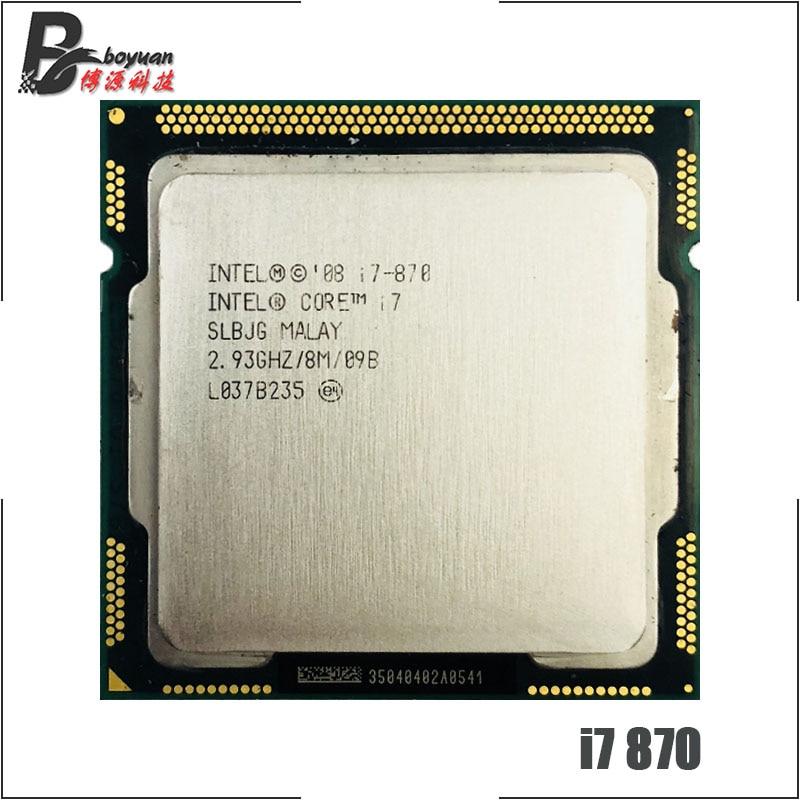 Intel Core i7 870 i7 870 2.9 GHz Quad Core CPU Processor 8M 95W LGA 1156-in CPUs from Computer & Office