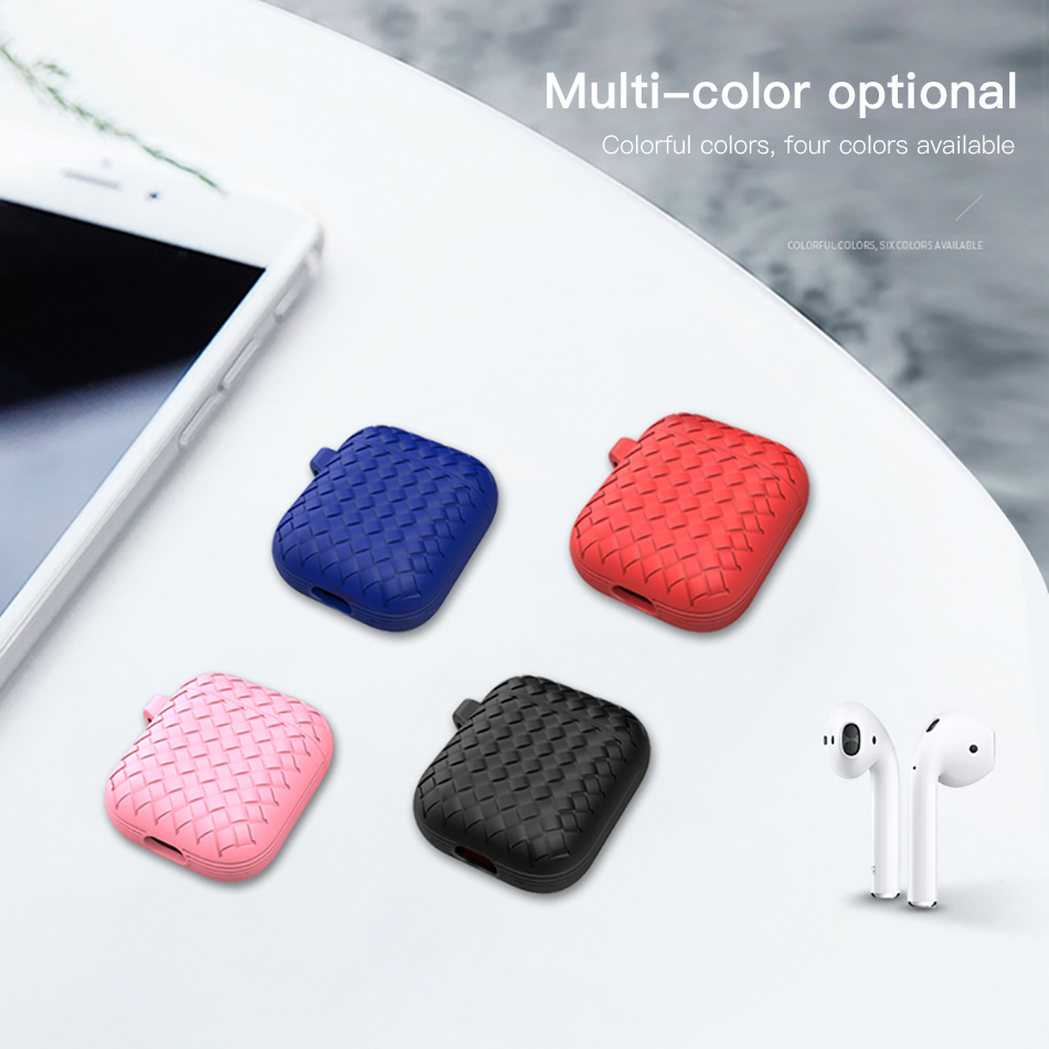 !ACCEZZ Bluetooth Wireless Earphone Case For Apple Airpods Accessory Wireless Headphones Accessories Portable With Charging Box (1)