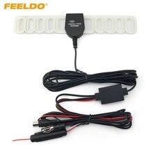 FEELDO 1 шт. автомобиля 2в1 FM IEC разъем ТВ антенна радио антенна с усилителем# AM1728