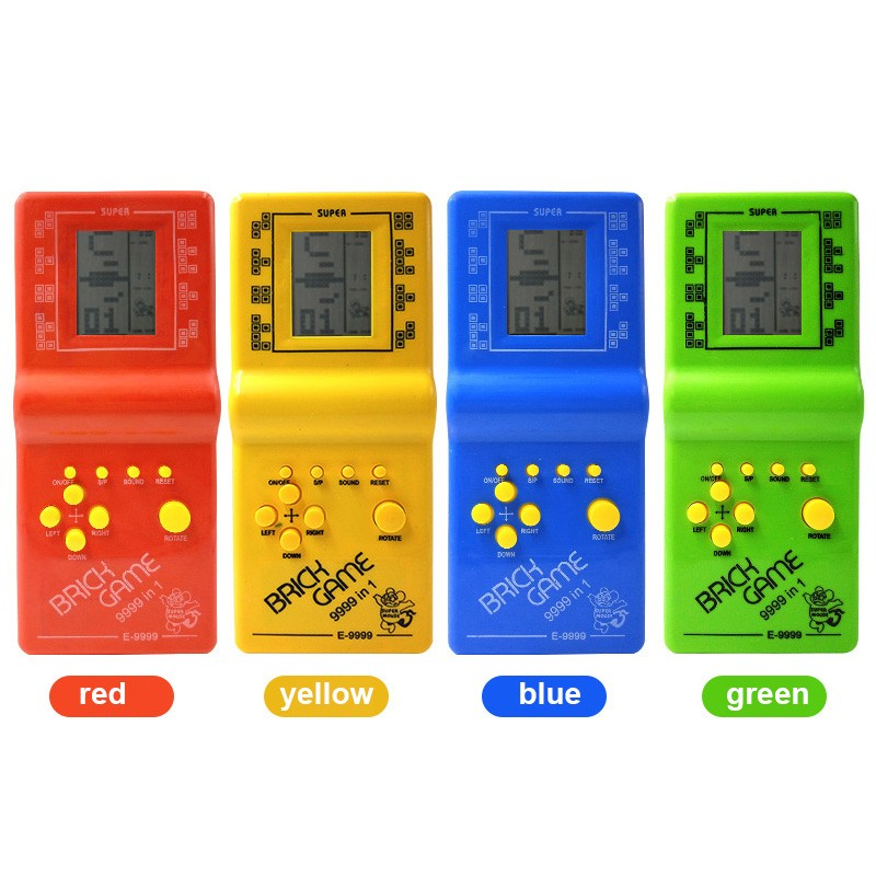 100pcs Classic Tetris electronic portable LCD game console children's puzzle toys video game game console Special sales dhl ship