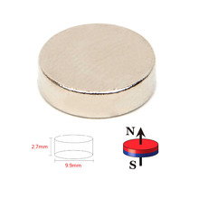 50pcs Powerful Acoustic Field Speaker Diameter 9.9mm x 2.7mm Block N52 Rectangular Magnet Rare Earth Neodymium Permanent Magnet