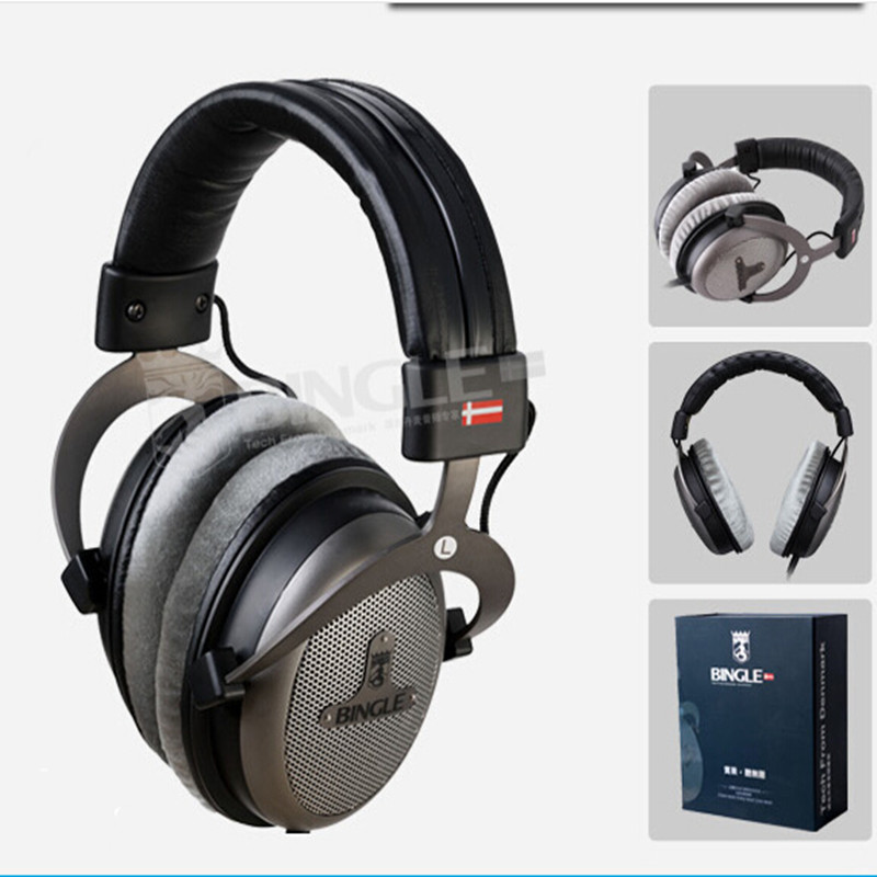 Bingle B-910-M Over-Head Headphones Studio Monitor Headphone Hifi Stereo DJ Monitoring Headset Music Earphone 3.5mm + 6.3mm Plug bingle b 910 b910 b910 m noise cancelling deep bass over ear stereo hifi dj hd studio music 3 5mm 6 3mm wired earphone headphone