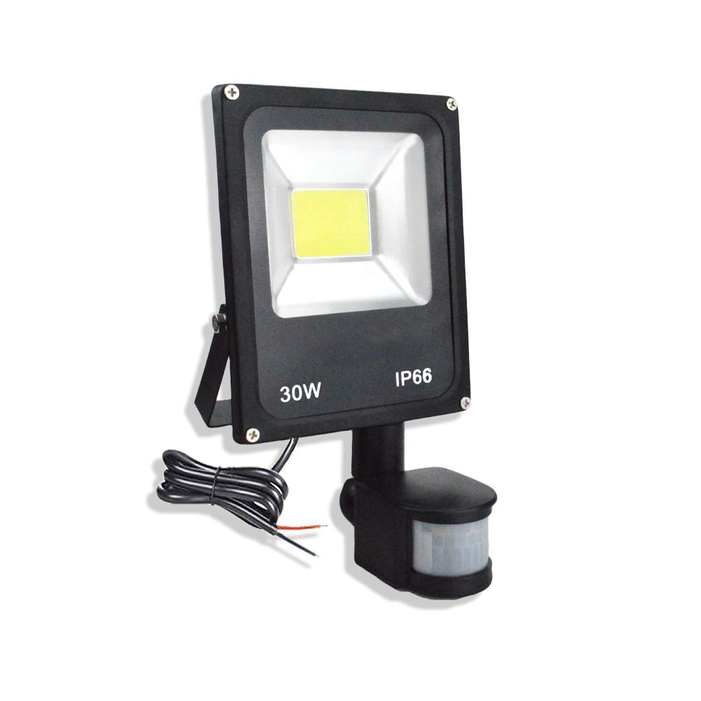 Motion Sensor LED Flood Light AC 220V 10W 30W 50W Waterproof IP65 Outdoor Lighting Reflector Floodlight Lamp Foco Exterior Spot