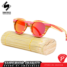 New 2017 French designer Polarized color wooden Sunglasses pure handmade real wood men and women cat eye bamboo wood eye glasses