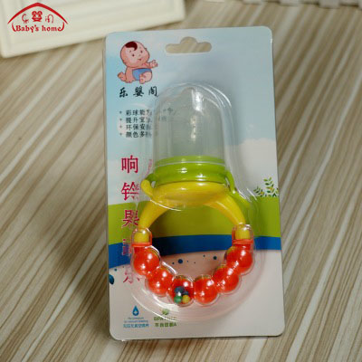 Baby Pacifier for Fresh Food Small Bell Blue Pink Kids nipples Feeder chupeta Nipple Bottle Free Shipping
