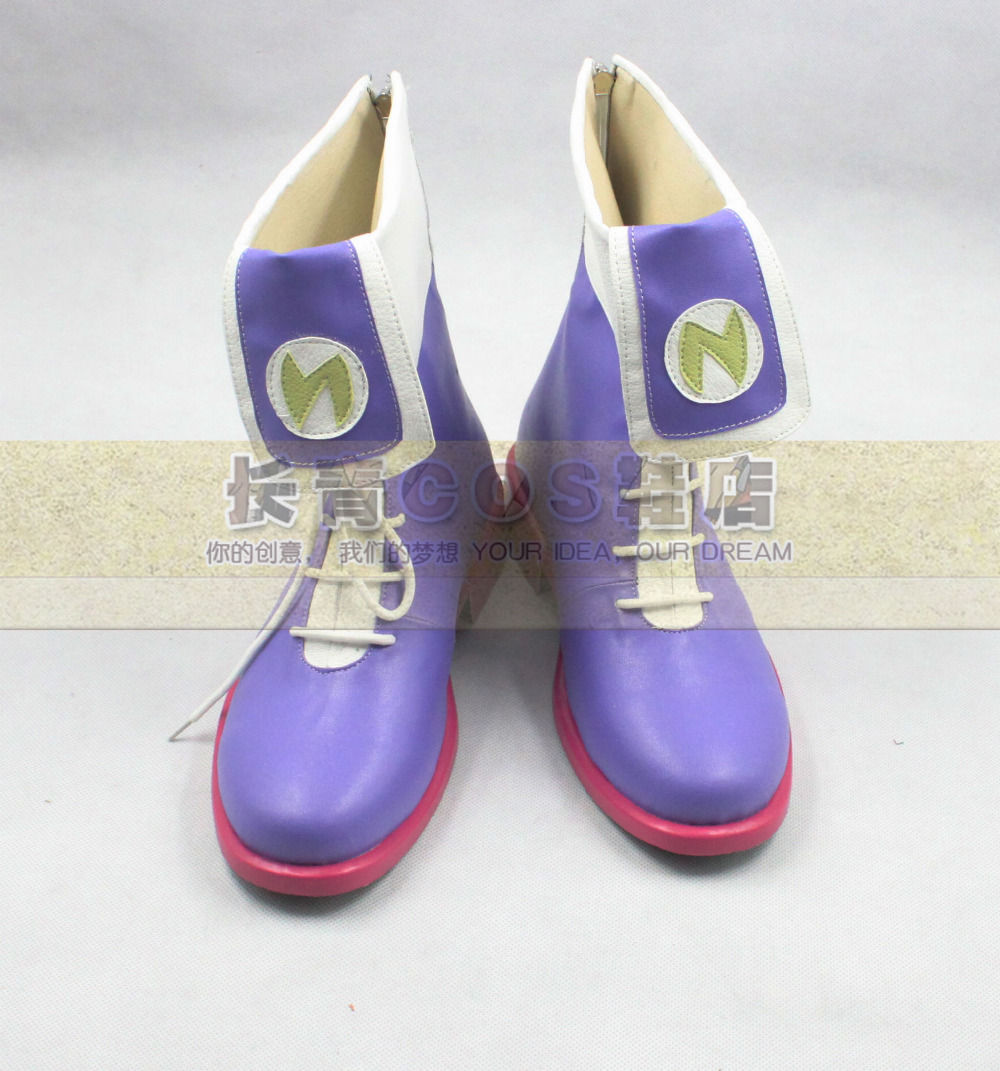 Hyperdimension Neptunia Nepgear Purple Cosplay Shoes Boots C006