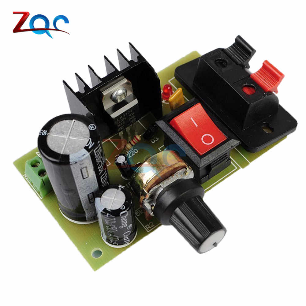 LM317 ปรับแรงดันไฟฟ้า Regulater ขั้นตอนลง Buck Power Supply แผงวงจรอิเล็กทรอนิกส์ชุด DIY Suite โมดูล w/ตัวต้านทานสวิทช์