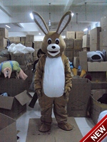 2017 New Mascot Costumes For Adults Christmas Halloween Outfit Fancy Dress Suit Free Shipping Coffee Rabbit
