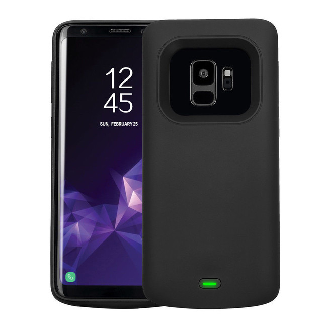 4700 mAh Bateria Estendida Caso De Borracha ABS Tampa De Carregamento Do Telefone de Metal para Samsung Galaxy S9 5.8 polegada Li-polímero proteção externa