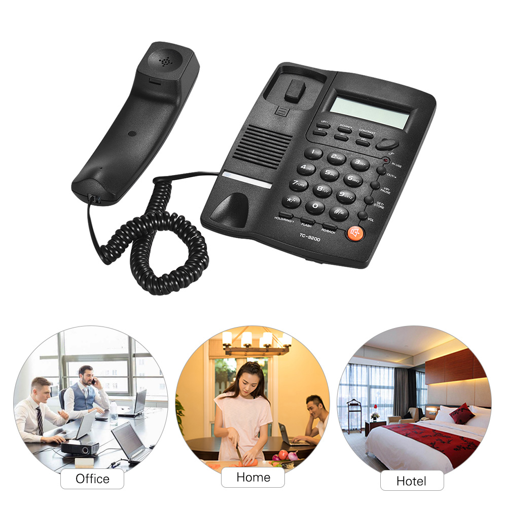 Desk telefone Corded Telephone Phone Landline LCD Display Caller ID Volume Adjustable Calculator Alarm Clock for Home Call NEW