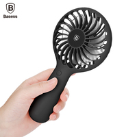 Baseus Portable USB Fan 3 Speed Adjustable Cooler Mini Fan 1500mAh Rechargeable Handy Small Desk Desktop