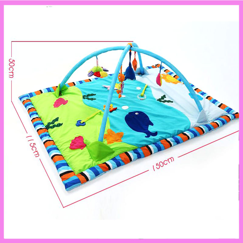Baby Gym Activity Playmat Large Ocean Cotton Infants Game Blanket Carpet Baby Play Gym Mat Fitness Bundle Toys Activity Play Mat fitness rack baby music electric game blanket newborn baby game blanket toys with remote control