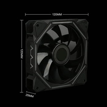 Computer Case PC Cooling Fan Light Bar RGB Adjust LED Lamp Strips 120mm Cooler Fan Light QJY99