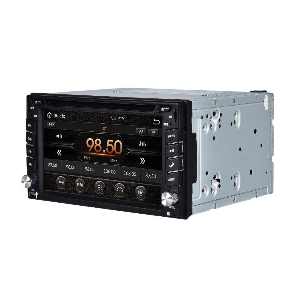 "Henhaoro Touch Screen car dvd player gps navigation USB SD Bluetooth FM  6.2"" 2din in dash  TFT support rear view camera input"