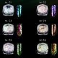 0.2g/Jar Cameleon Decoraciones Del Arte Del Clavo Glitters Polvo de Pigmento Para Uñas Cromo Escamas Holográfico Camaleón Brillo de Escamas