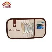 Car auto sun visor type 6 pcs CD holder storage bag/ 3 pcs cards holder/women cartoon auto accessories car-styling C1603
