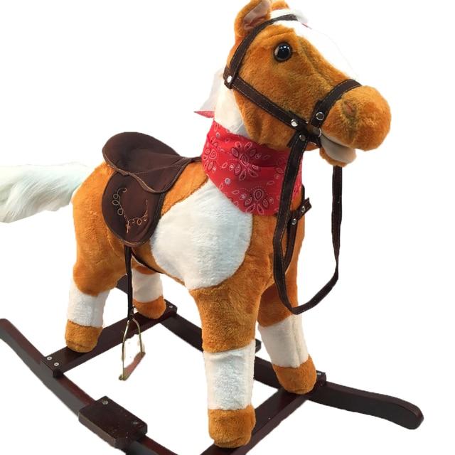 Cavallo Di Legno Giocattolo.Cavalli A Dondolo Peluche Giocattoli Per 3 8 Anni Di Eta I Bambini