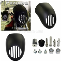 Matte Black 5 3/4 Cut Out Headlight Fairing Sportster LoPro Prison Fairing For Harley XL DYNA FXR Racing 1973 2010