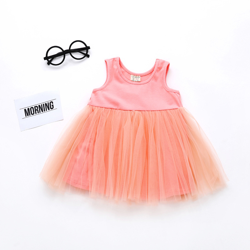 8db5e54d3c3e Baby Girl Dress Newborn Cute Baby Embroidery Cotton mesh Dress ...