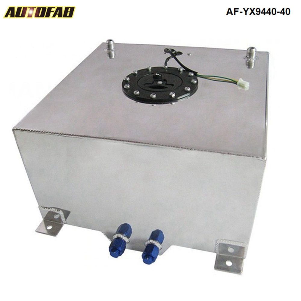 40L Aluminium FUEL CELL TANK polished FUEL LEVEL SENDER AN 10