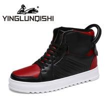 YINGLUNQISHI 2016 Hot Sale  Men casual New Fall High – top Shoes Men' s High Shoes Tide Shoes Korean Boots Shoes Men Plus Size