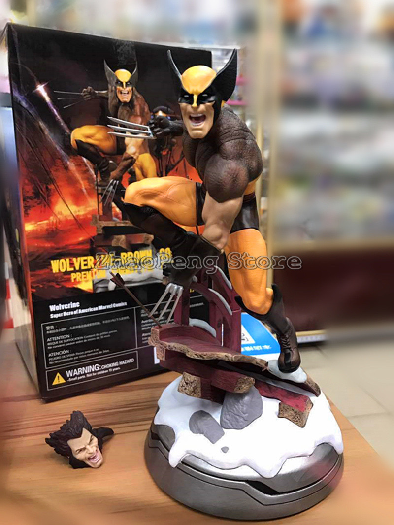 Wolverine Figure Logan Justice League face change Statue X MEN Weapon Action Figure Model Collection Toy brinquedos Gift B83 x men wolverine bust action figure logan resin statue wolverine collectible model toys bust toy doll gift