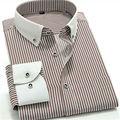 Повседневная рубашка мужчины с длинным Рукавом в полоску camisa Мужские рубашки MGQT7012 XXS XS S M L XL XXL