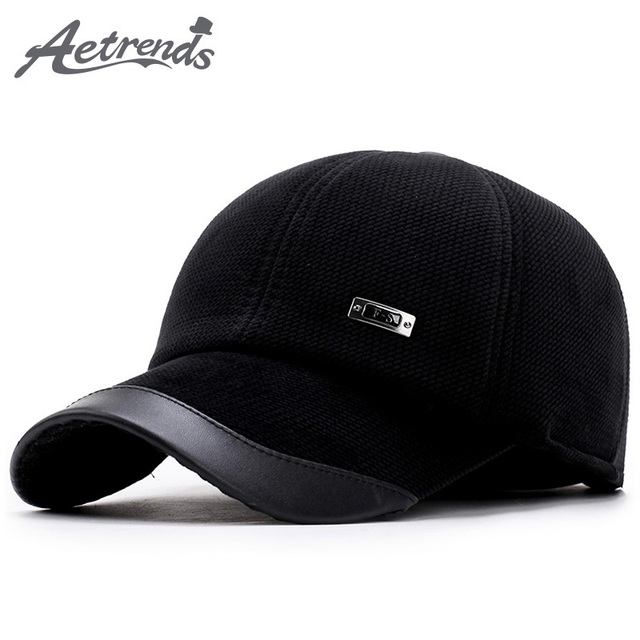 21bf0a23273  AETRENDS  Corduroy Baseball Hats Caps Men Suede Cap Dad Hat Thicken with Ear  Flaps
