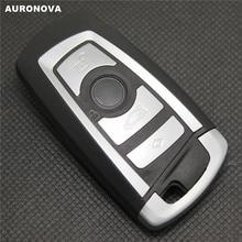 AURONOVA for BMW 3 5 7 Series X3 X5 X6 E90 320 520 730 Smart Key 4 Buttons Replace Car Key Shell цена